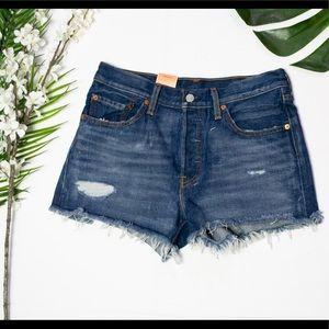 LEVI's distressed 501 shorts